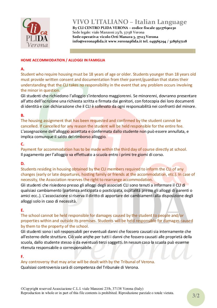 Regolamento studenti CLI italianoinglese 2013 03